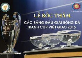 Giải bóng đá Việt Giao Chào Xuân Bính Thân 2016