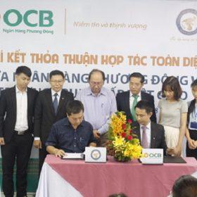 Lễ ký kết thỏa thuận hợp tác toàn diện giữa trường Việt Giao và ngân hàng Phương Đông