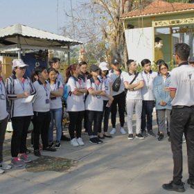 Sinh viên ngành Hướng dẫn du lịch thực hành Nghiệp vụ hướng dẫn tại tỉnh Tiền Giang
